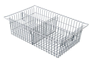 8in Wired Basket with 1 long 1 short divider