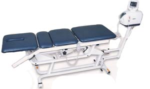 Traction Table for Chiropractic Treatment Hand Control