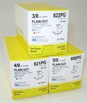 Absorbale Plain Gut Sutures for NCP-2 Reverse Cutting Needle
