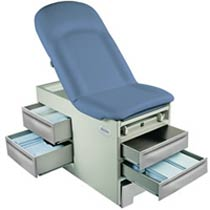 Pneumatic Back Exam Table w/ Pelvic Tilt & Power Outlets