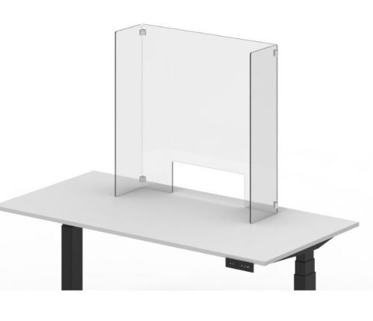 Acrylic Office Counter Sneeze Guard Freestanding