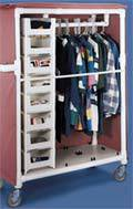 PVC Clothing Cart w/ Removable Covers