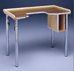 Adjustable Height Wheelchair Desk