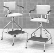 Adjustable Low Hydrotherapy Stool with Casters