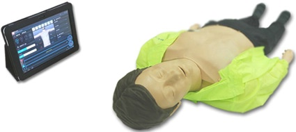 Adult CPR Training Manikin Wi-Fi Connectivity Tablet