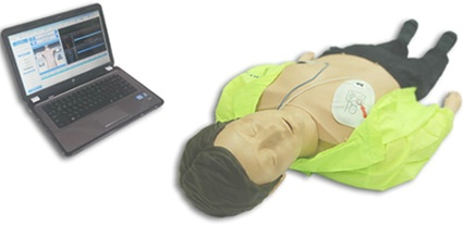 Adult CPR Training Manikin Wireless Laptop