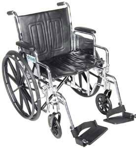 Chrome Sport Wheelchair with 18 in Seat