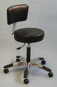 Round Seat Stool w/ Backrest