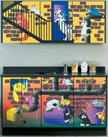 Alley Cats  Dogs Themed Pediatric Cabinet Set