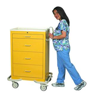 Aluminum 4 Drawer Isolation Cart w/ Key Lock
