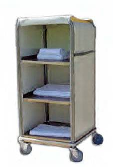 Aluminum Enclosed Clean Linen Cell Cart - 3 Shelves