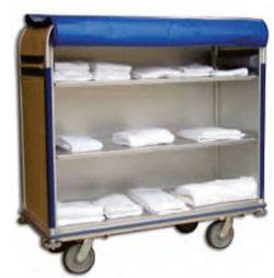 Aluminum Linen Cart - 24in W