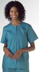 AngelStat Snap Front Scrub Top