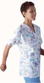 AngelStat Womens Two-Pocket Scrub Top