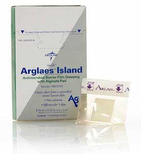 Arglaes Island Antimicrobial Dressing(10cm x 12cm) w/ Alginate Pad