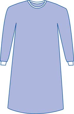 Sterile Aurora Gowns Non-Reinforced Set-in-Sleeves Large 43in