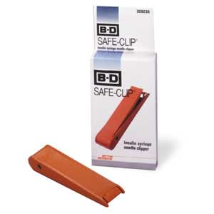 B-D Safe-Clip Insulin Syringe Needle Clipper