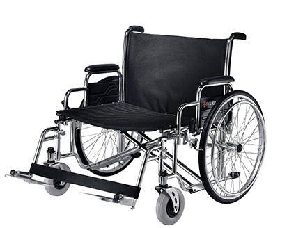 Bariatric Manual Wheelchair wSwing-away Footrests