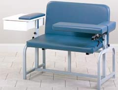 Bariatric Phlebotomy Chair w/ Drawer & Flip-Arm