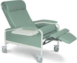 XL Care Recliner Steel Casters