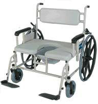 bariatric wheeled shower commode chair