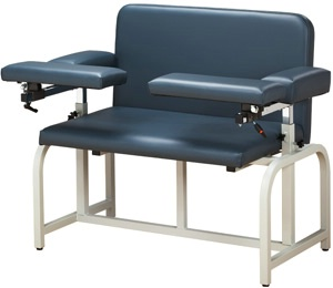 Bariatric Wide Phlebotomy Chair w/ Flip-Arm