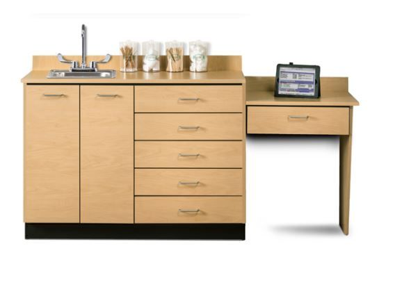 Base Cabinet Set w/ Wall Mount Desk