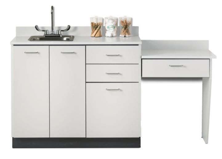 Base Cabinet Set with 3 Drawers and Desk