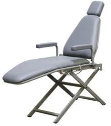Basic Aluminum Dental Patient Chair - Scissor Base
