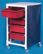 PVC Utility Cart w/ Storage Bins