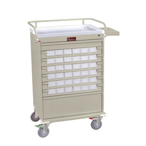 36 Bin Medication Cart w/ Narcotics Box