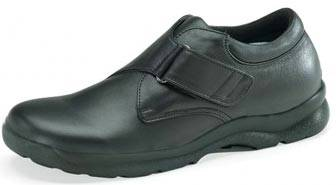 Black Single Strap Diabetic Shoes