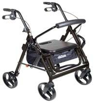 Black Transport ChairRollator