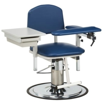 Blood Drawing Chair Padded Flip Arm and Drawer