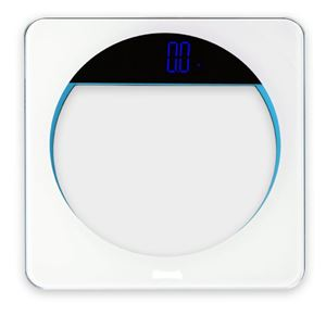 Clear Glass Blue Light Accents Bath Scale