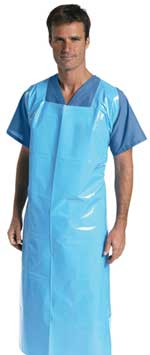 Latex-Free Blue Heavyweight Aprons