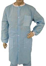 Blue SMS Polypropylene Lab Coats