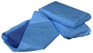 Blue Sterile Operating Room Towels 17in x 27in