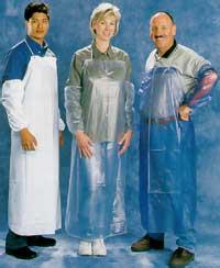 Blue vinyl apron - 6 mil