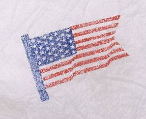 Bouffant Caps - US Flag Print