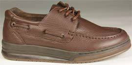 Brown Womens Lace Diabetic Boat Shoes