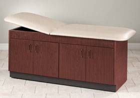 Cabinet Style Treatment Table w/ Storage Compartments 24in W