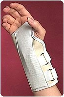Canvas Cock-Up Splint with Spoon Stay - 8inch