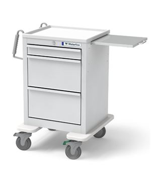 3 Drawer Short Steel Crash Cart