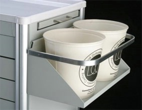 Cast Bucket Shelf w/ Towel Holder