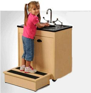 Child Height Portable Sink w/ ABS Basin