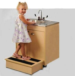 Child Height Portable Sink w/ Stainless Steel Top