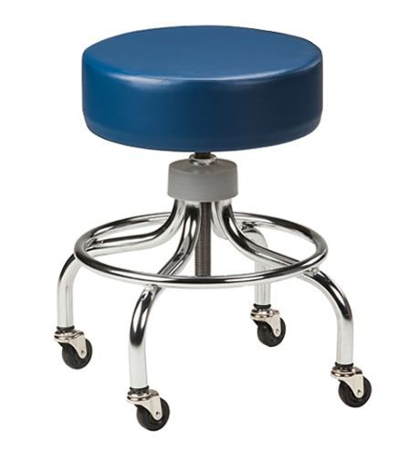Chrome Base Stool w/ Solid Color Top