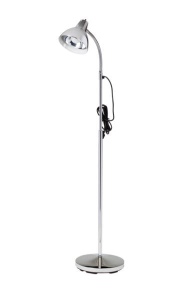 Chrome Floor Gooseneck Lamp