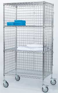 Chrome Linen Carts 24 in. 60 in. L
